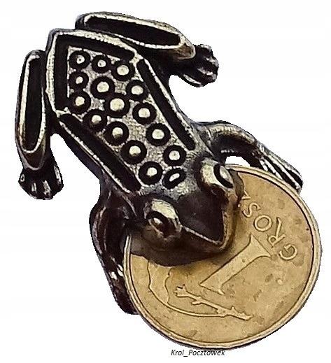 Figurka ŻABKI z grosikiem upominek na szczęście
