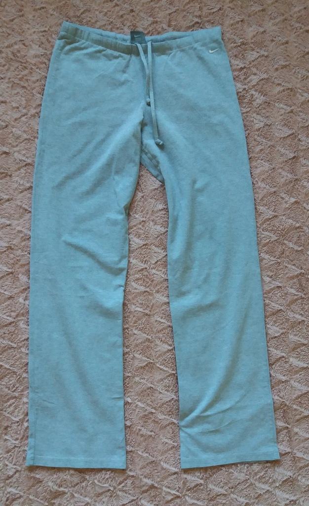 NIKE proste legginsy 36/S szare cienkie dresy