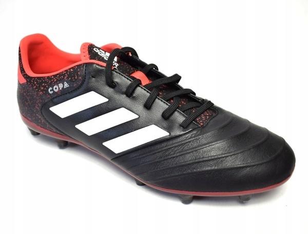 Buty Piłkarskie Meskie Adidas Copa 18.1 FG Czarno Biały Czerwony