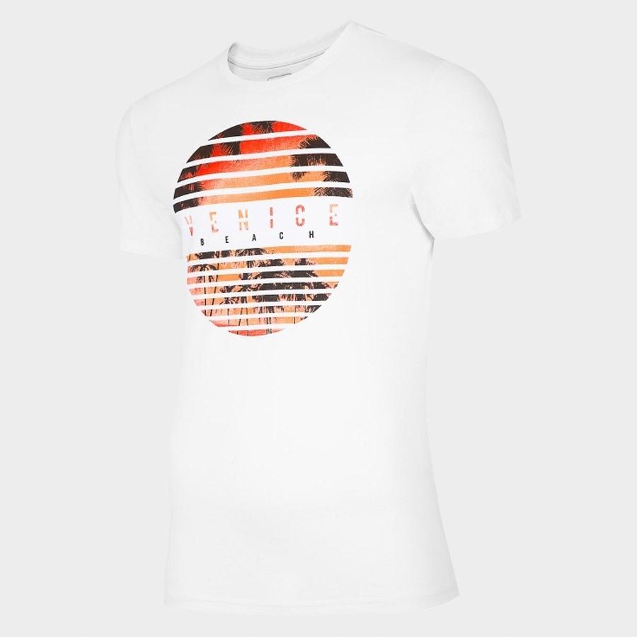 T-Shirt 4F H4L20-TSM033 10S biały S!