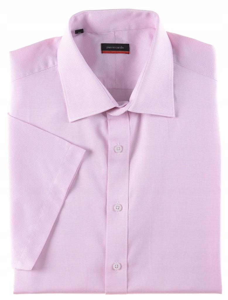 PIERRE CARDIN różowa koszula krótki rękaw k 41