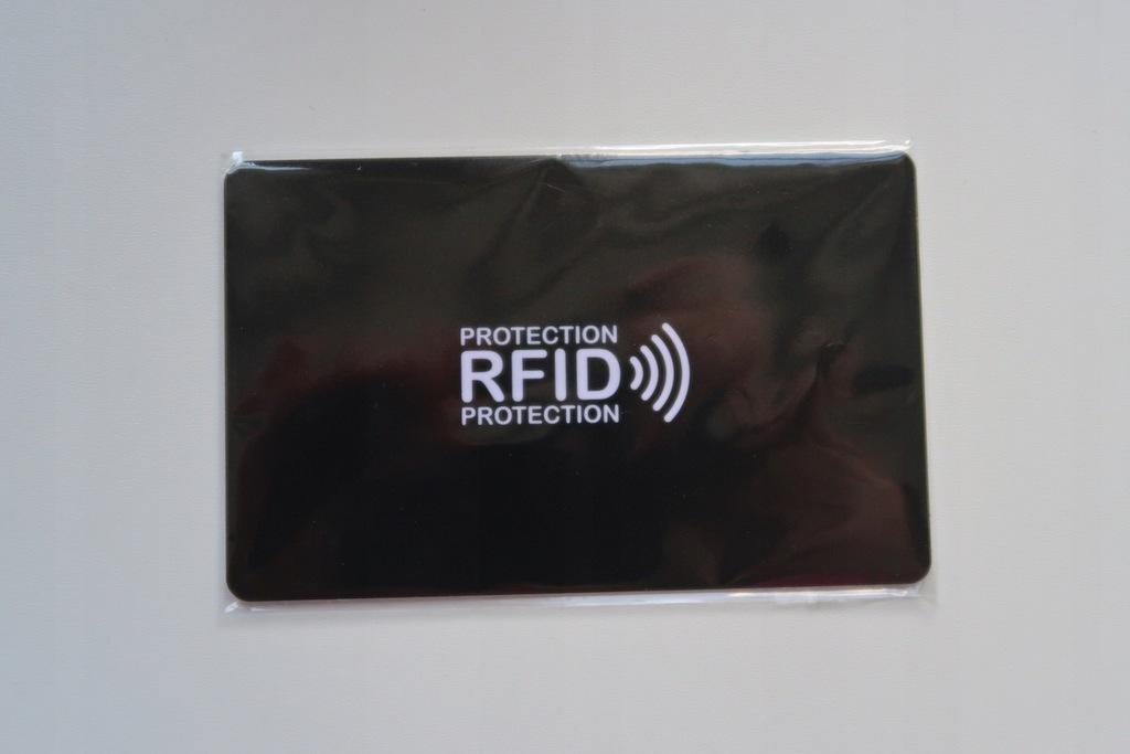 KARTA BLOKUJĄCA RFID CZARNA DO PORTFELA HIT !!!