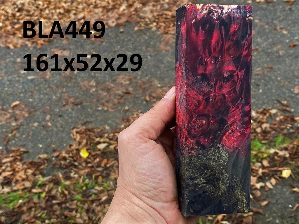 Drewno stabilizowane bloczek knifemaking BLA449