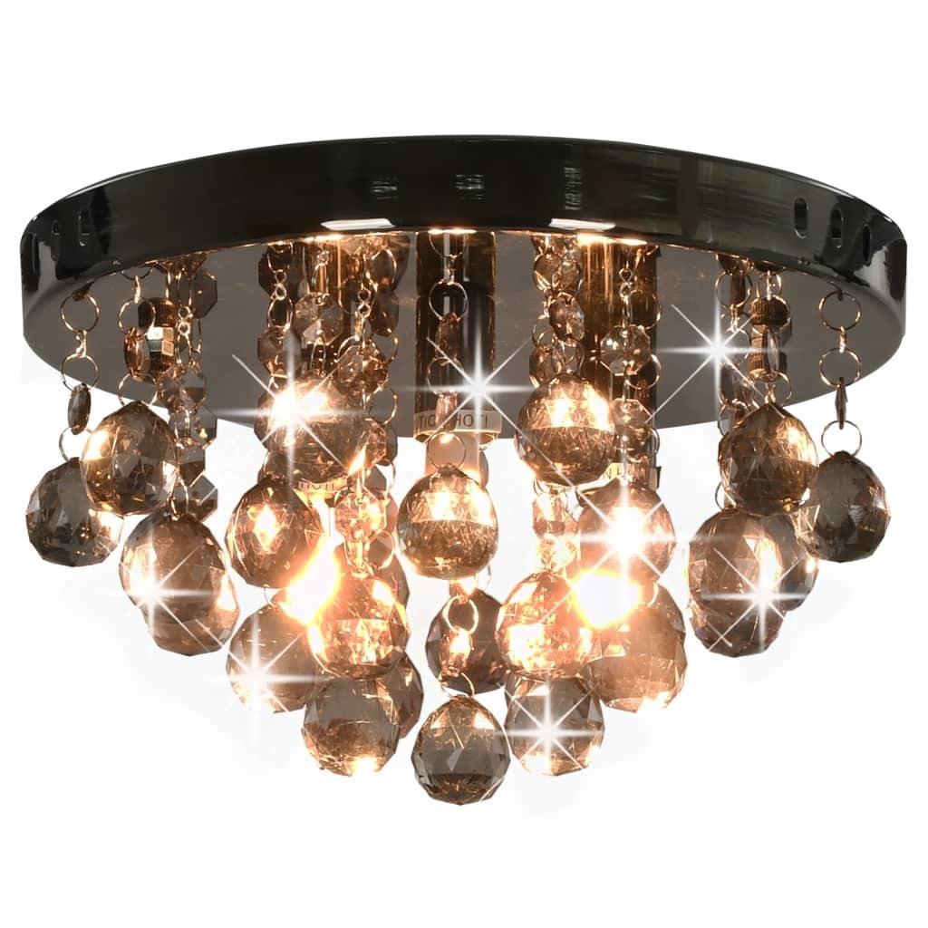 Lampa Sufitowa Z Przydymionymi Koralikami Czarna 8513299672 Oficjalne Archiwum Allegro