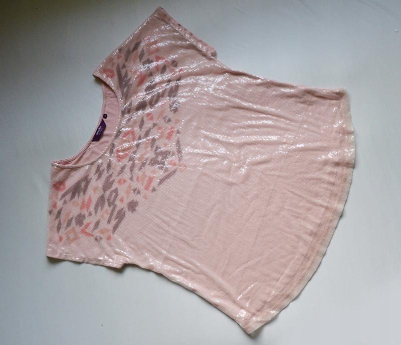 Bluzka różowa cekinowa new look 48/50