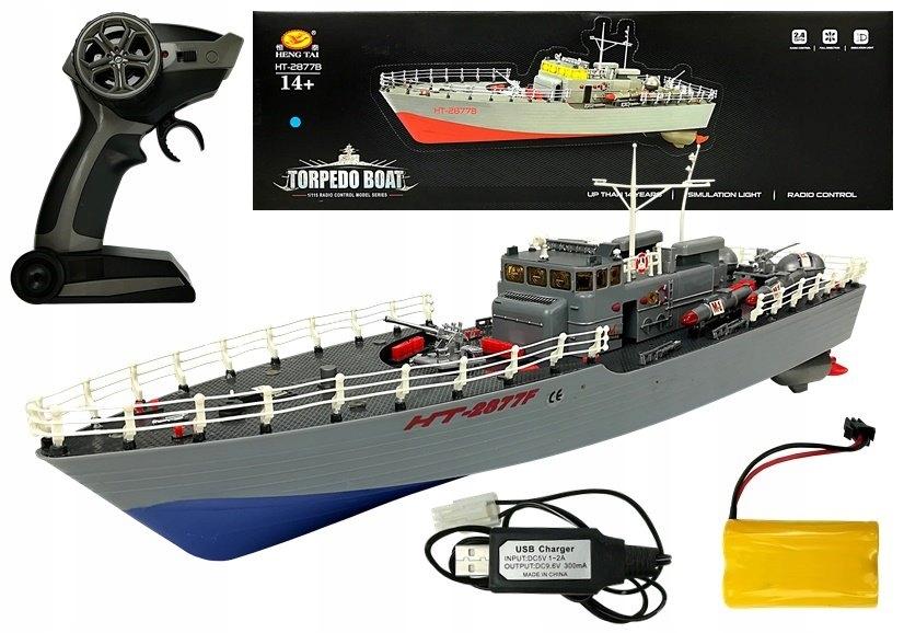 Statek Kuter Torpedowy Zdalnie Sterowany R/C 1:115
