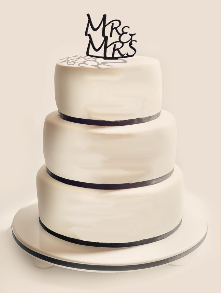 Figurka Topper toper na tort ślubny plexi pleksa