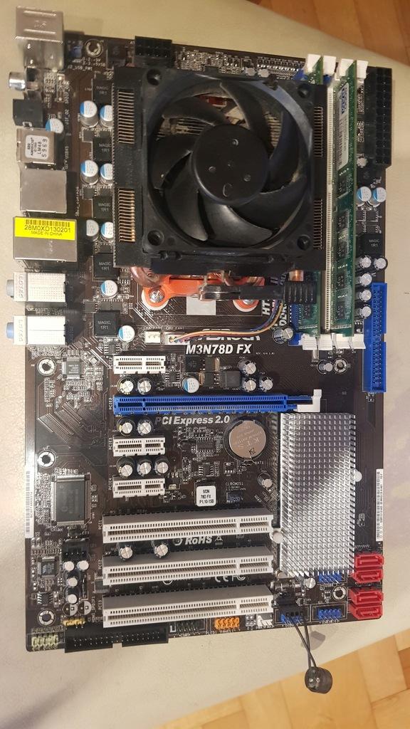 ASRock M3N78D FX + AMD Phenom II X4 965 + 4GB DDR3