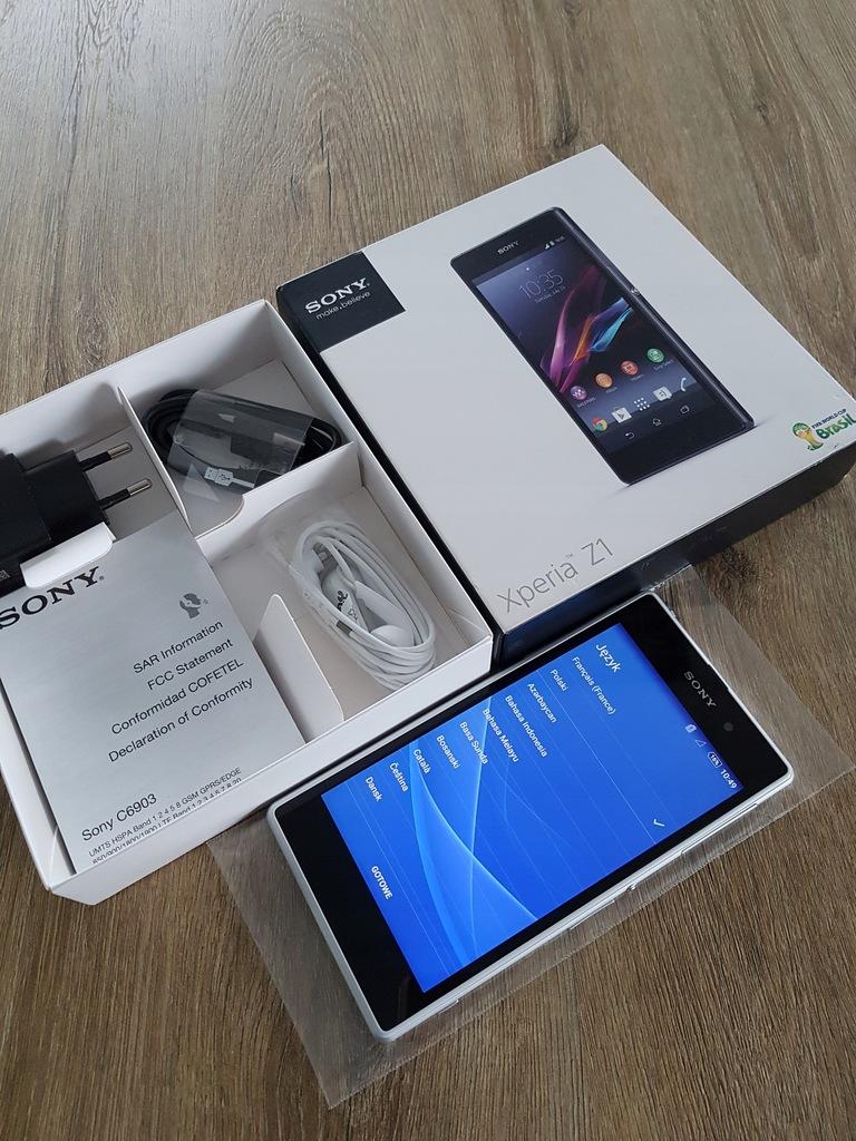 Sony Xperia Z1 white NOWY