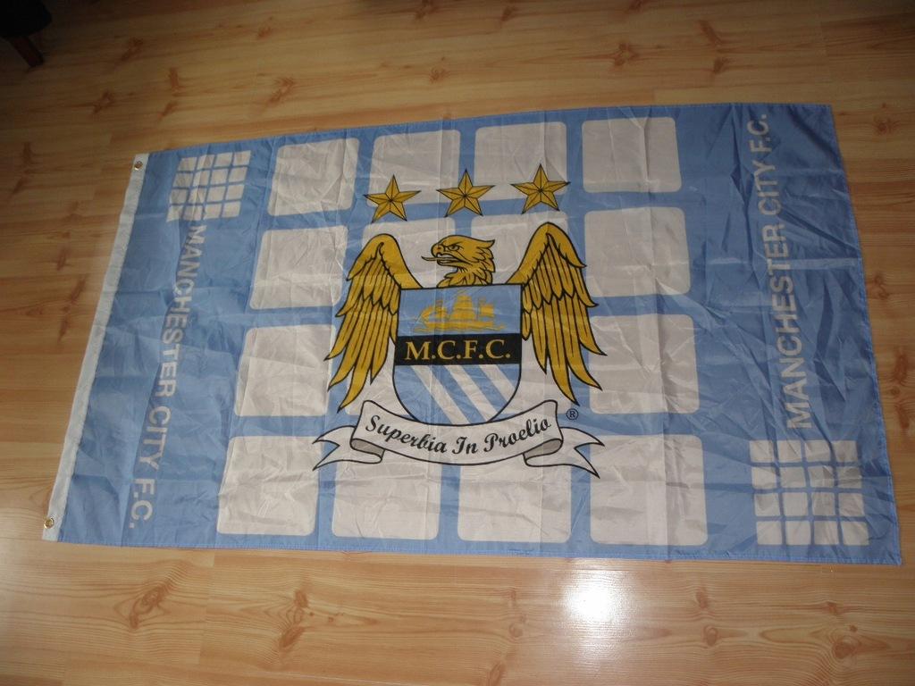 MANCHESTER CITY F.C. - DUŻA FLAGA Z ANGLII