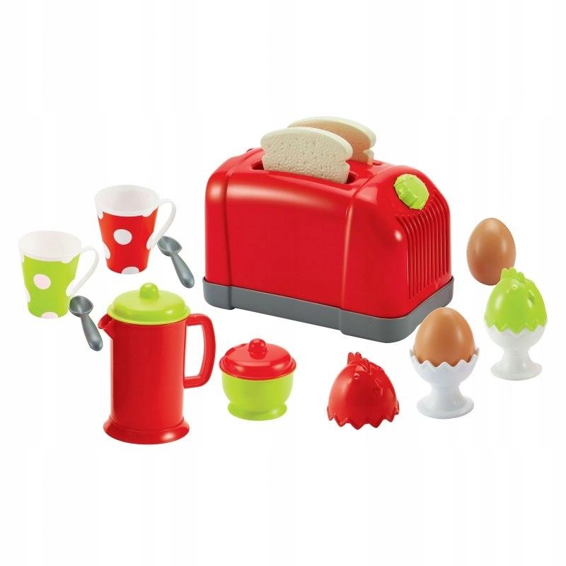 Ecoiffier Zestaw Śniadaniowy z tosterem 17 akcesor