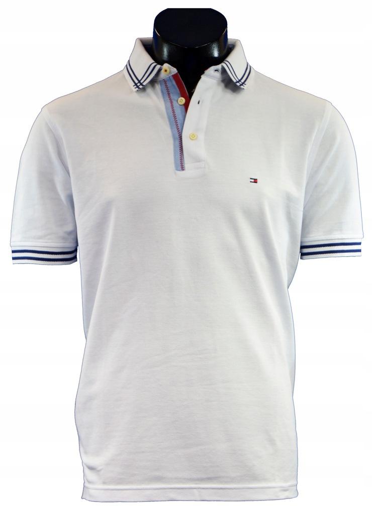 Koszulka polo Tommy Hilfiger Biała rozmiar M