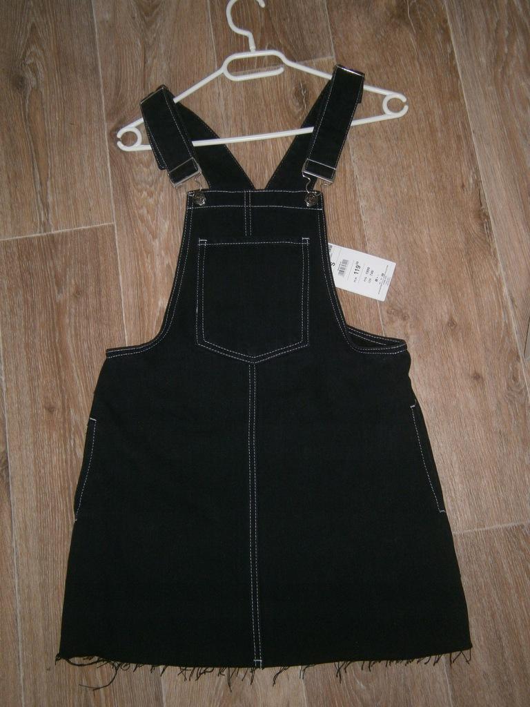 Świetna spódnica na szelkach- jeans - CROOP