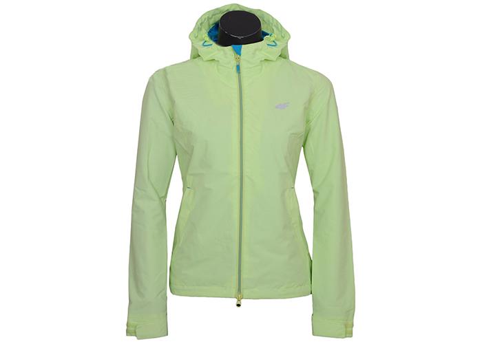 damska kurtka wiosenna 4f szara z zielonym