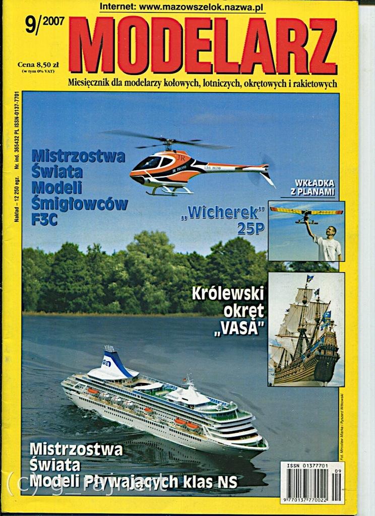 Modelarz 9/2007 Bleriot XI B/W