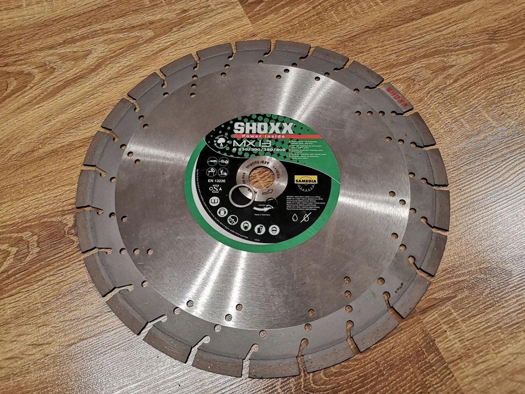 TARCZA DIAMENTOWA 350mm beton asfalt SHOXX MX13