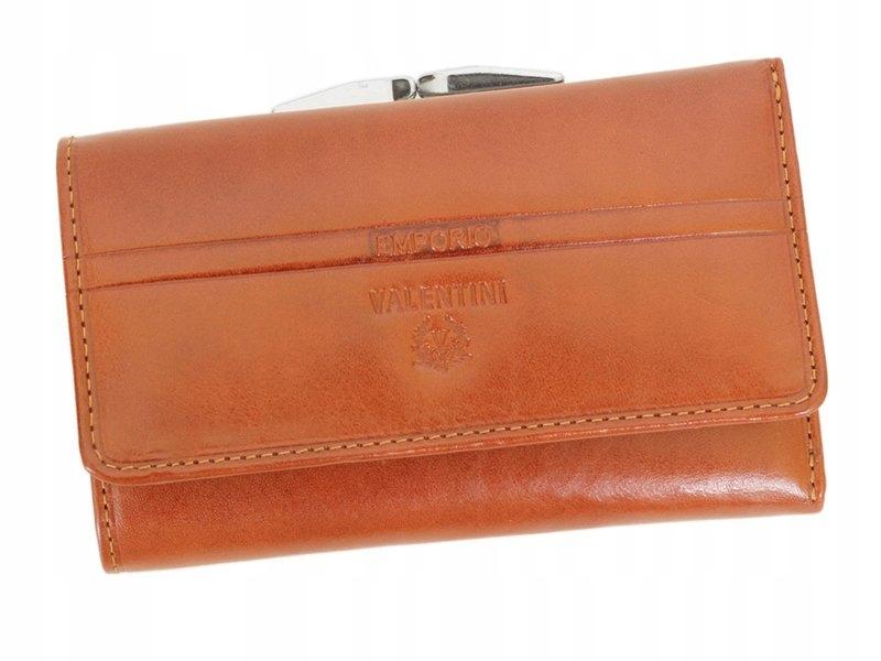 EMPORIO VALENTINI skórzany portfel damski ciemny c