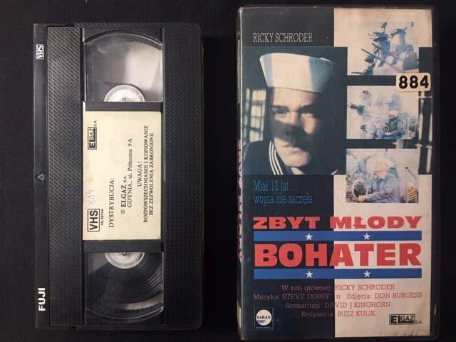 ZBYT MŁODY BOHATER 1988 VHS ELGAZ