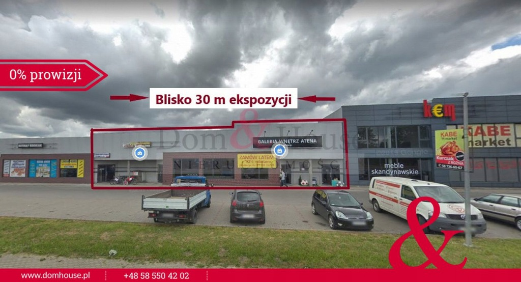 Komercyjne, Dzierżążno, Kartuzy (gm.), 444 m²