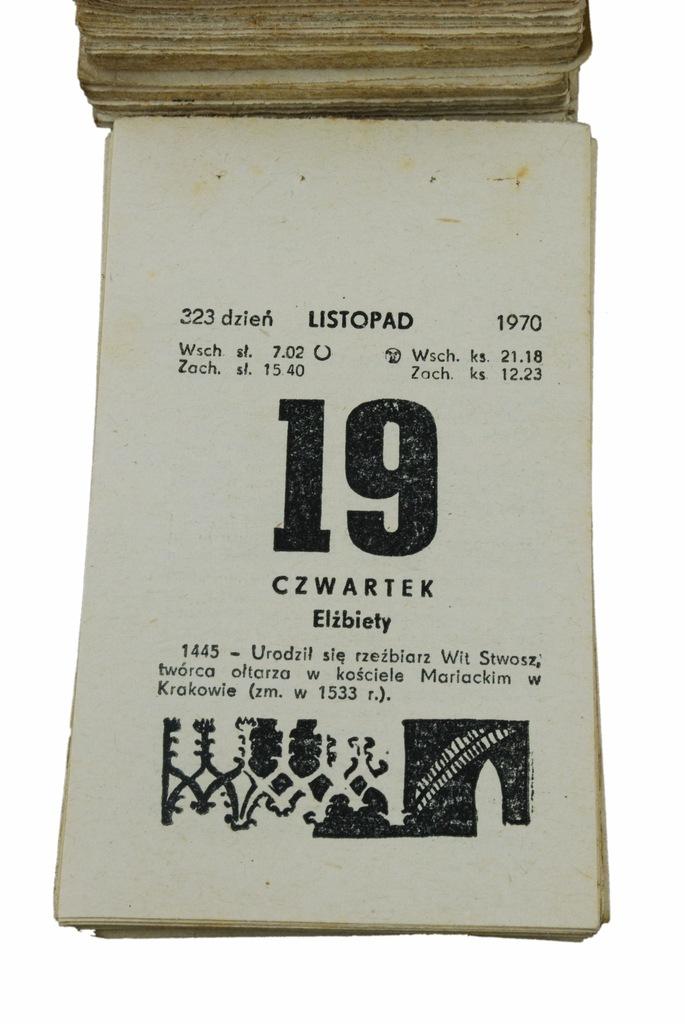 50 urodziny PREZENT kartka kalendarz zdzierak 1970