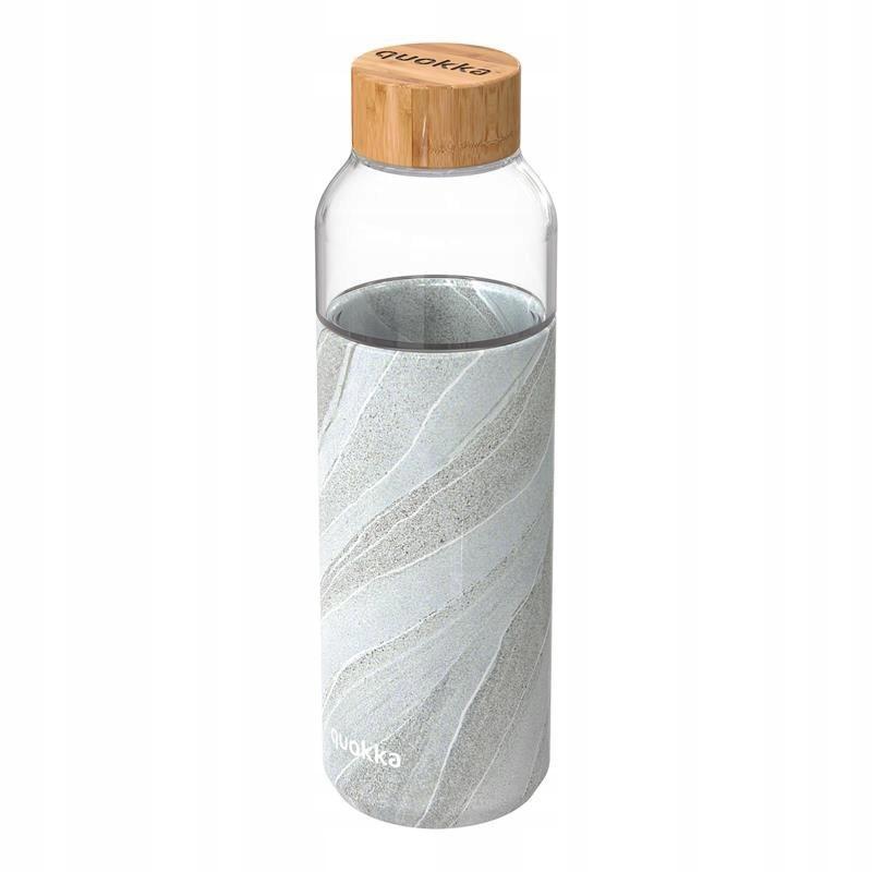 Quokka Flow - Butelka na wodę ze szkła 660 ml (Whi