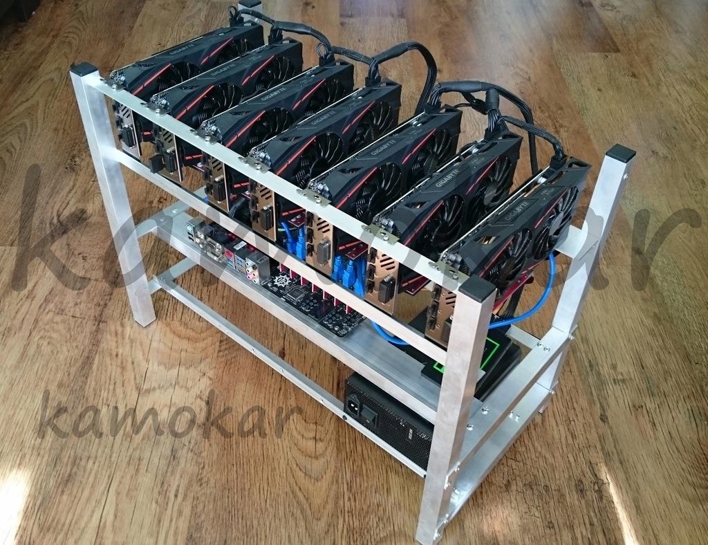 Nowa Koparka Kryptowalut 7x Radeon RX580 8GB