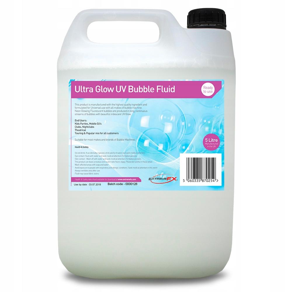 Płyn do baniek mydlanych Neon UV 5L maszyny bialy