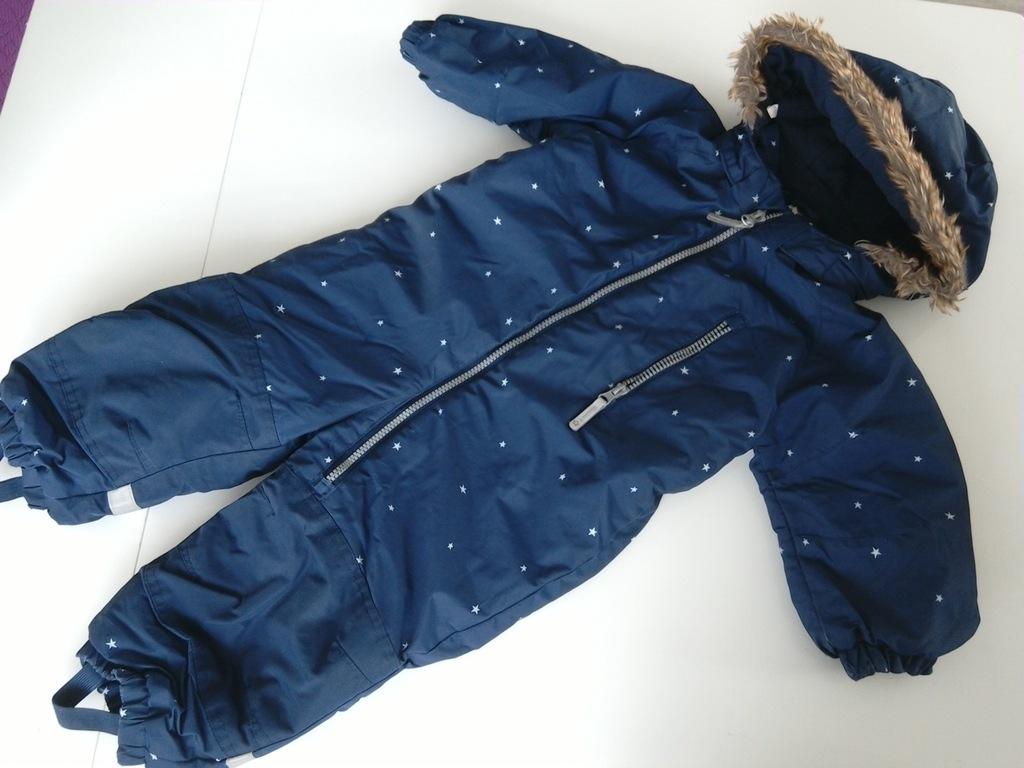 H&M świetny zimowy kombinezon r.86