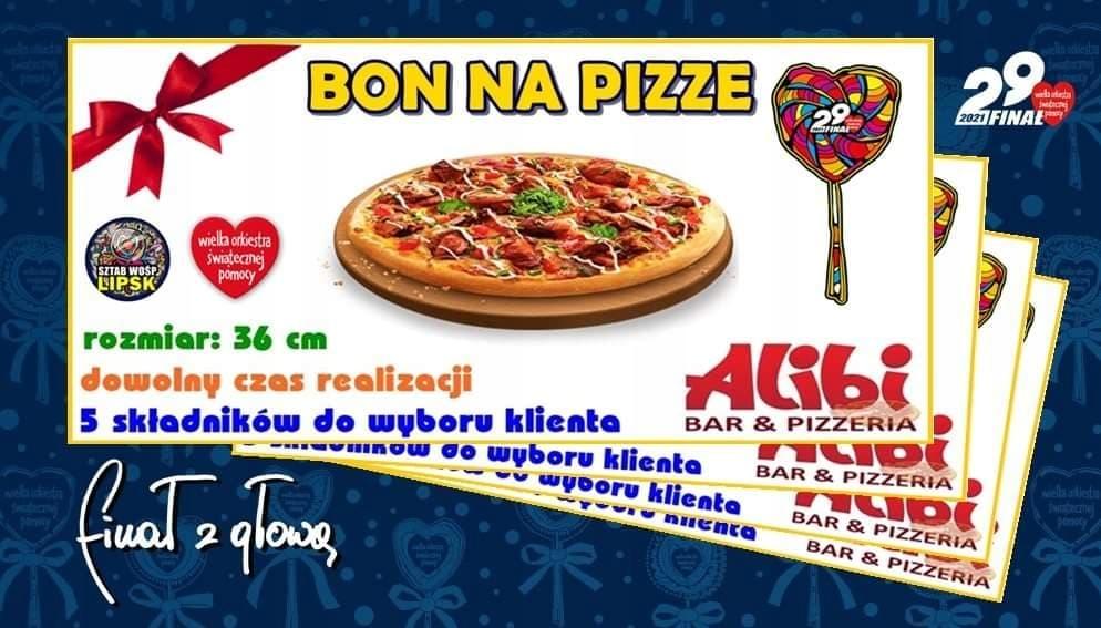 Bon na pizzę - 29 Finał WOŚP