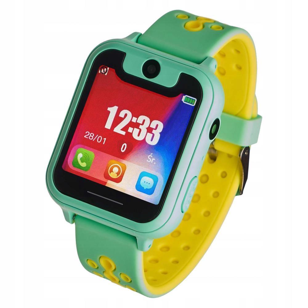 Zegarek smartwatch Garett Kids zielony+ GRATIS