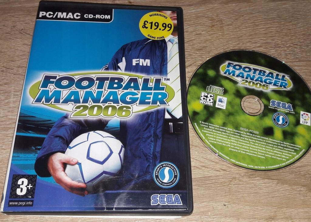 FOOTBALL MANAGER 2006 PC ANG