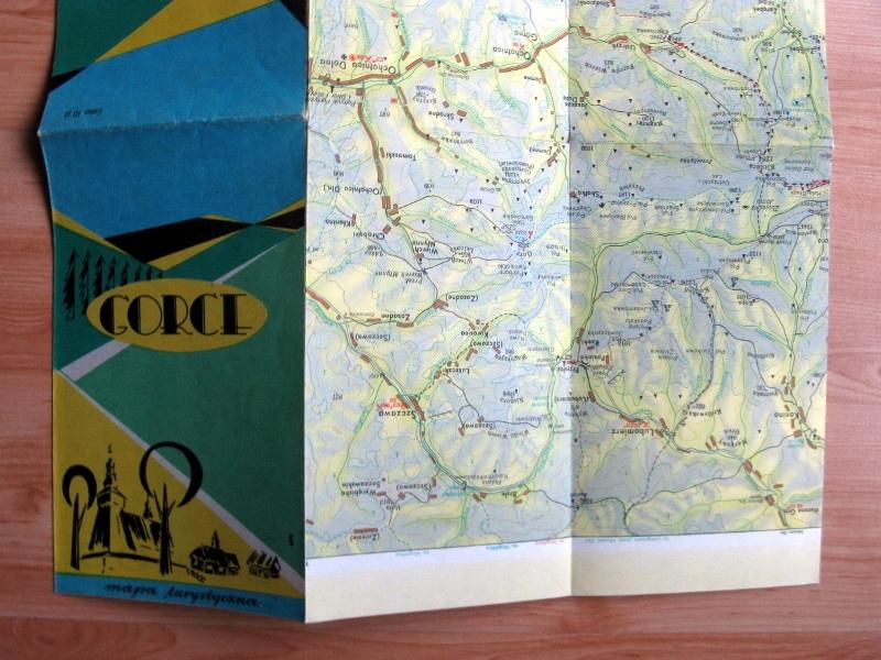 plan mapa turystyczna góry Gorce 1977