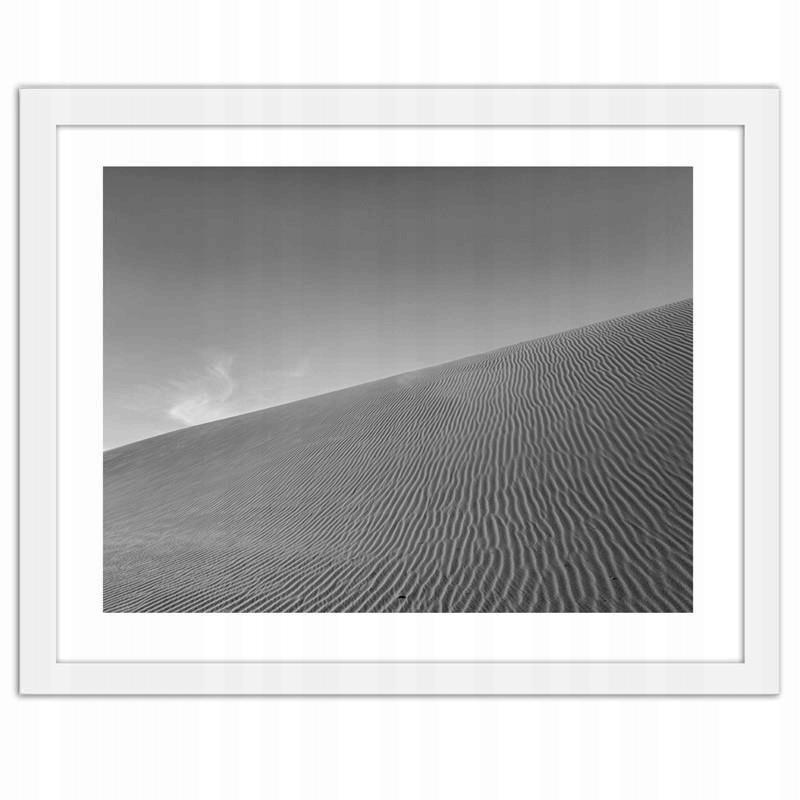 Obraz w ramie białej Pustynna wydma 80x60