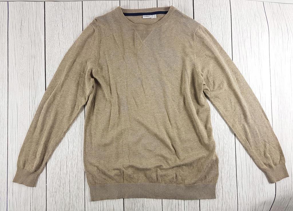 4313 LIVERGY beżowy bawełniany sweter L