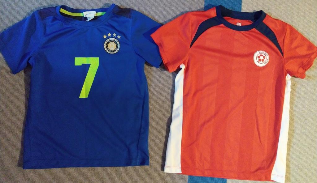 Zestaw 2 koszulek H&M trening r.116/128