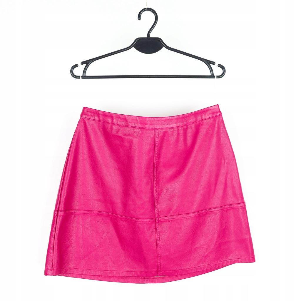 Spódnica damska różowa ekoskóra NEW LOOK r.42
