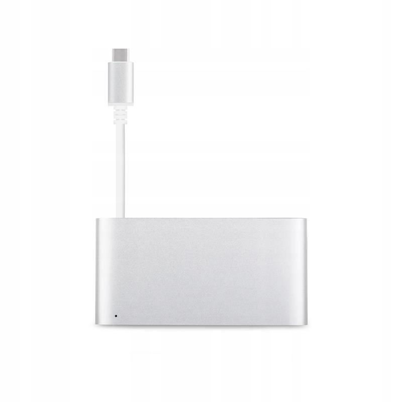 Aluminiowy hub 3-w-1 USB-C/Thunderbolt 3 (Silver)