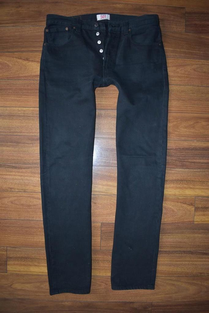 LEVIS 501 Czarne Spodnie Męskie Jeans W33 L34