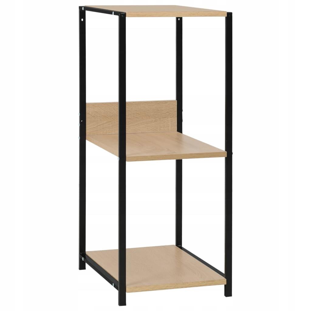 Mała, prosta półka na książki, czarno-dębowa, 33,5