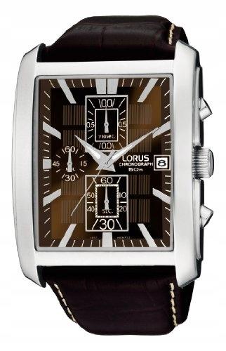 Lorus RM319BX9 Zegarek męski Skóra Brązowy