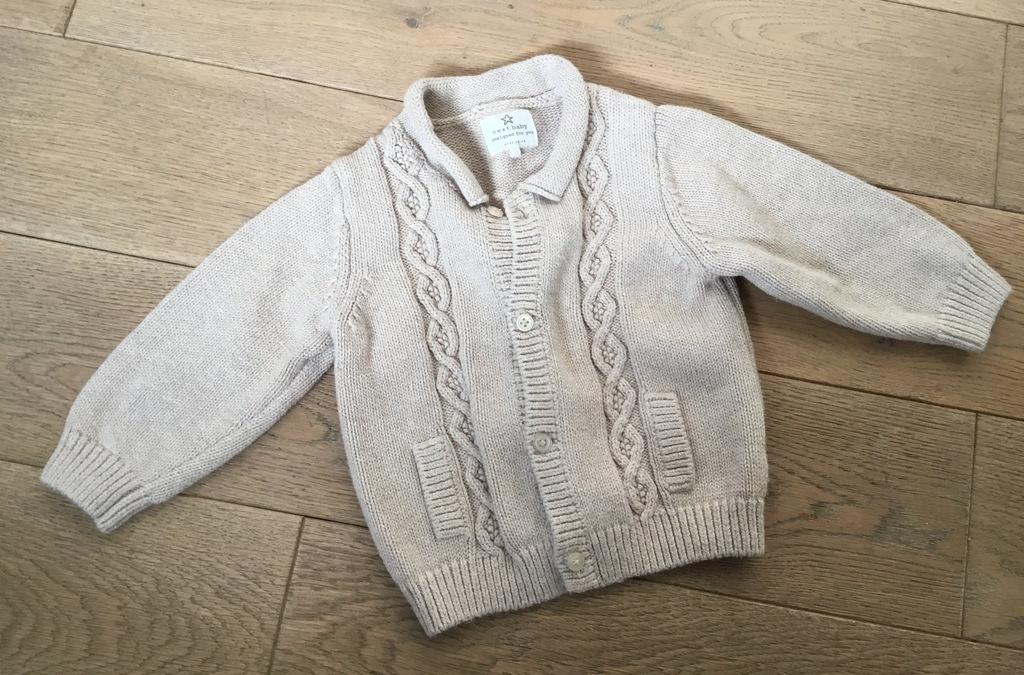 Sweterek rozpinany next dla maluszka 6-9 mc