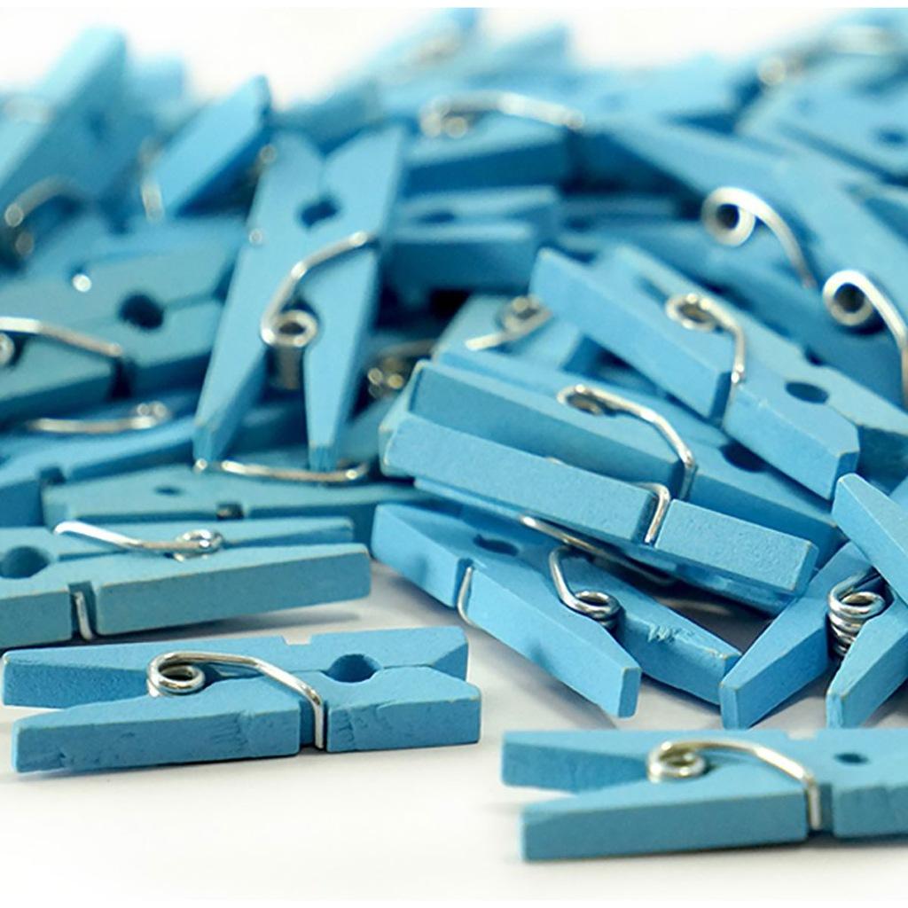 Mini KLAMERKI dekoracyjne niebieskie 2,5 cm 100szt