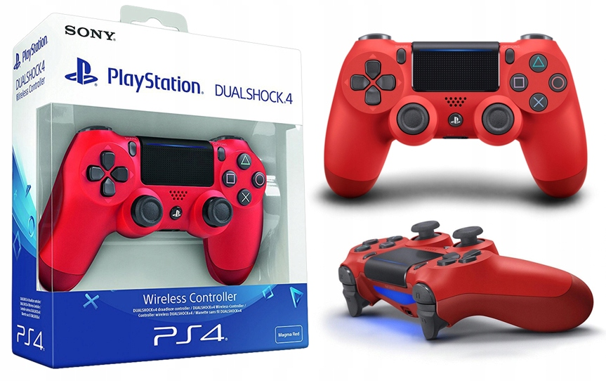 PAD DUALSHOCK 4 V2 MAGMA RED PS4 NOWY + GRATIS