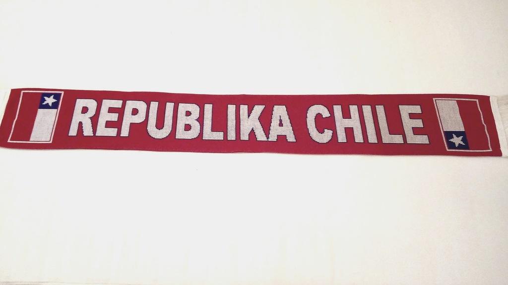 SZAL KIBICA DZIANY- REPUBLIKA CHILE- - DWUSTRONNY.