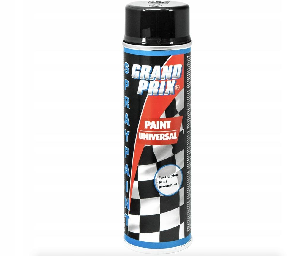 Lakier samochodowy czarny połysk GRAND PRIX 500ml