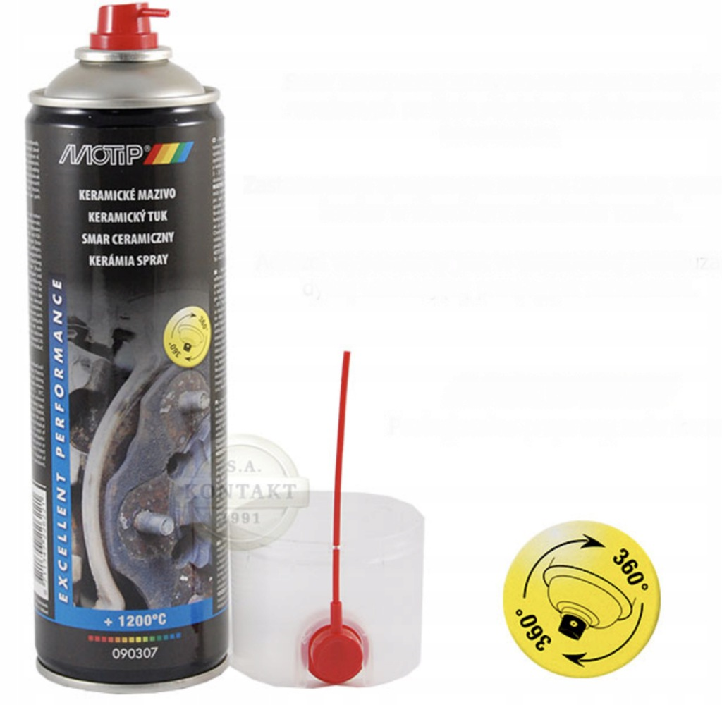 Smar do hamulców 1200°C spray 500ml MOTIP 090307