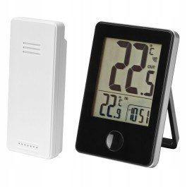 Termometr bezprzewodowy zasięg 60m pomiarCzarny