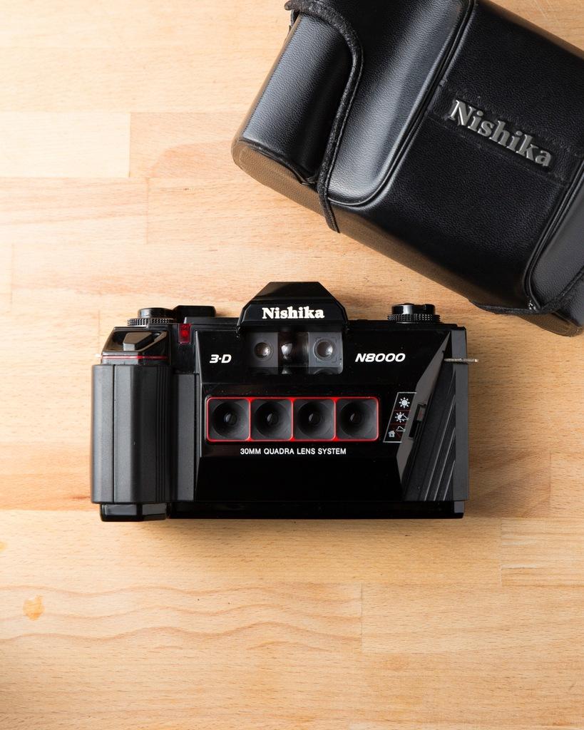 Nishika N8000 3D + Etui Animowane gify!