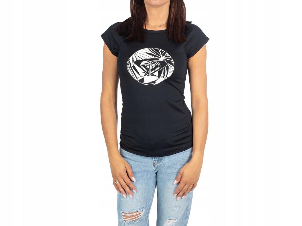 Czarna Koszulka z krótkim rękawem T-SHIRT ROXY