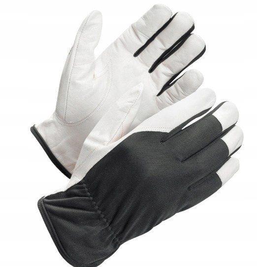 Rękawice monterskie skóra kozia nylon roz 8 małe s